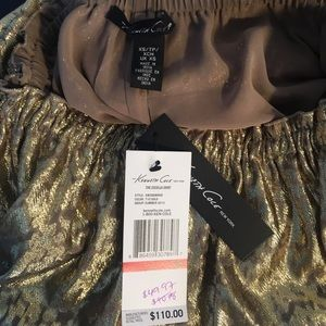 Kenneth Cole Skirts - NWT Kenneth Cole Gold Skirt Size XS